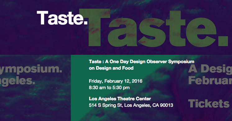 Mike Errico at Design Observer's 'Taste' Symposium (Los Angeles)