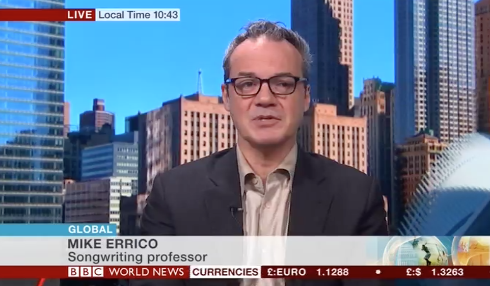 Mike Errico on the BBC